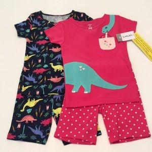 CARTERS 4 piece Summer Pajama Set    Size 5